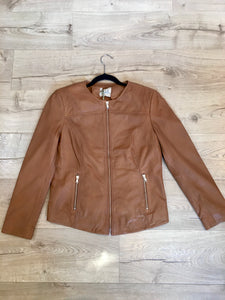 Kaja Clothing GIA Leather Jacket- COGNAC