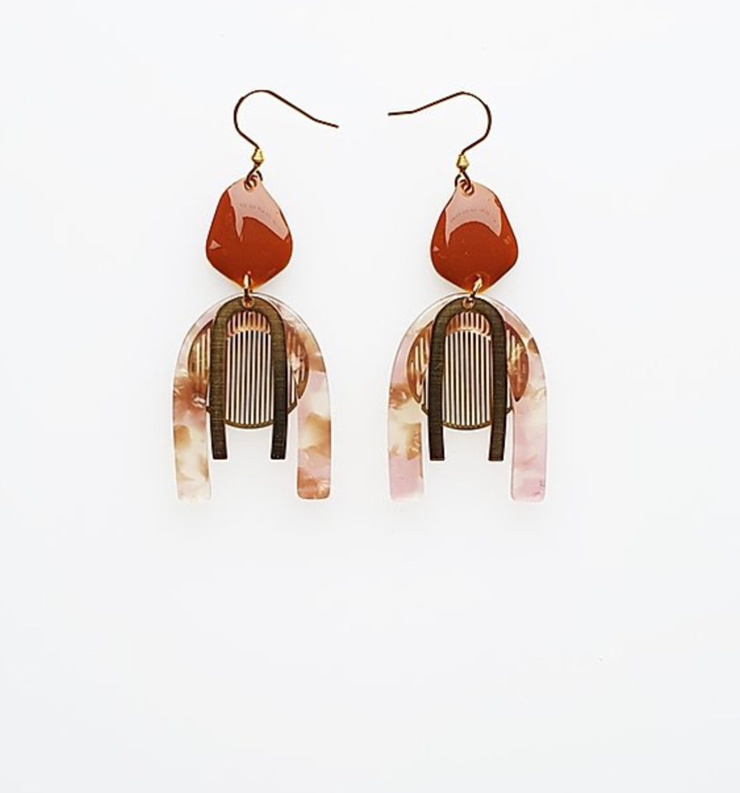 Middle Child HARPIST EARRINGS- Pink or Green