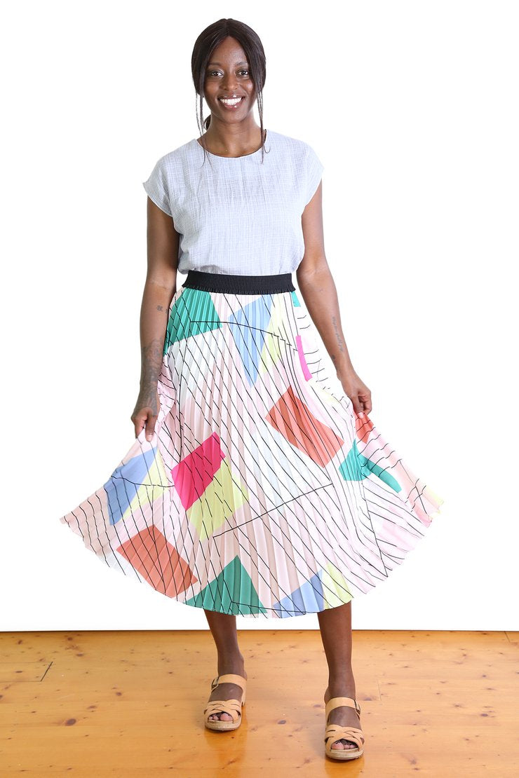 Olga de Polga TIFFANY PLEAT SKIRT- Pink