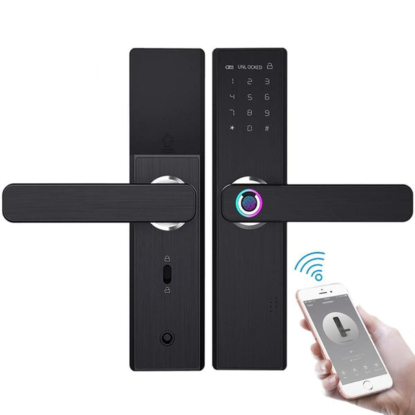 Electronic Smart Door With Fingerprint Intelligent Lock