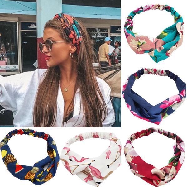 Women Hair Bands Print Headbands