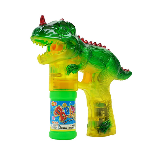 Dinosaur Bubbles Shooter Gun Light Up