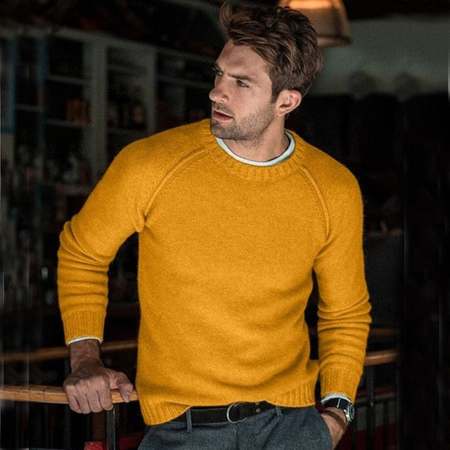 Long Sleeve Sweaters Men New Trend