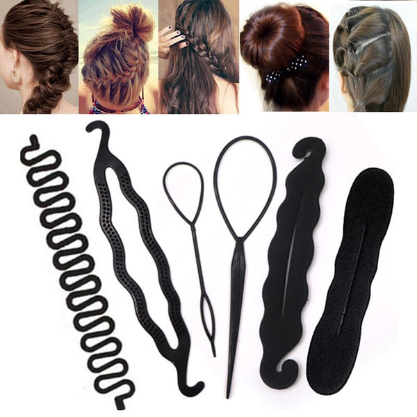 6pcs/set Magic Hair Styling Accessories