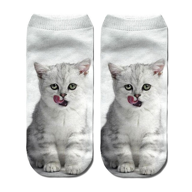 Women's funny animal Cute Print Socks