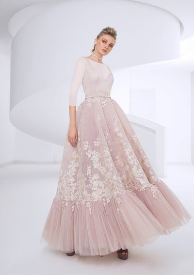 SK Dusty Pink Floral Gown