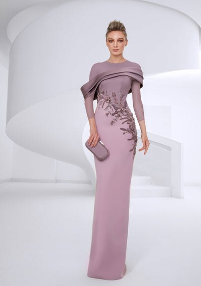 SK • Power Pink Diagonally cut Gown