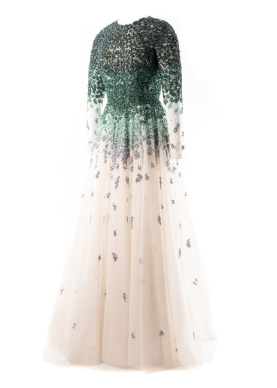 SK • Ombre Beaded Gown