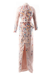 SK • Dusty Pink Wrapped Skirt Gown