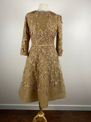 Powder • Gold Lace Dress