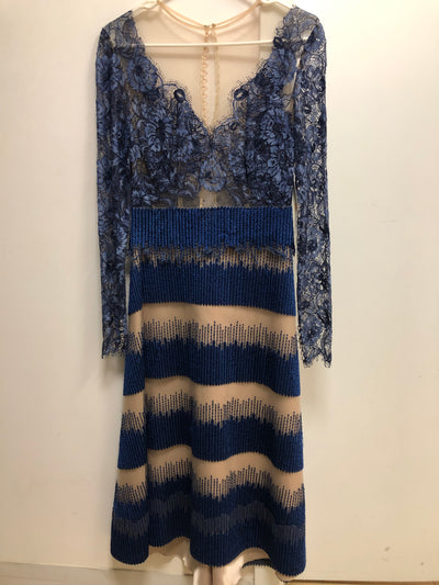 YC - Blue Spanish Lace Dress