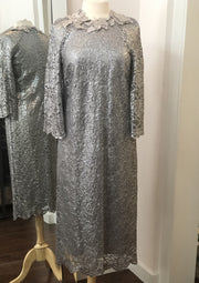 LM • Silver lace Cocktail dress