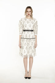 RR • Off-white Italian Lace Dress