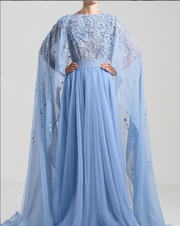 Saiid Kobeisy • Light blue Cape Gown