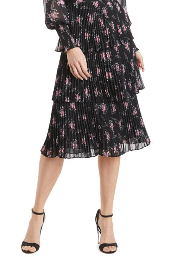 ML • Midi Skirt Pink Noir Floral