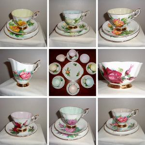 Paragon Fine Bone China Six World Famous Roses Tea Service
