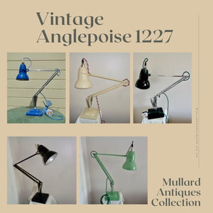 Vintage Anglepoise 1227 Desk Lamps Available in The Mullard Antiques Shop