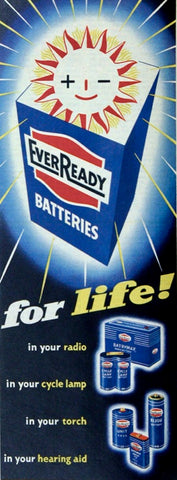 1950s Advert Ever Ready Batteries