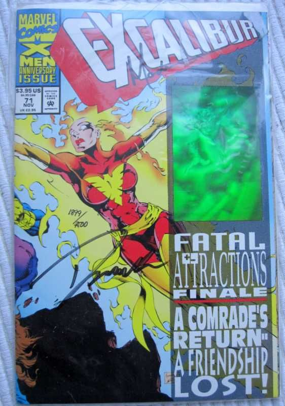 Marvel Comics Excalibur #71 X-Men Anniversary Signed Limited Edition