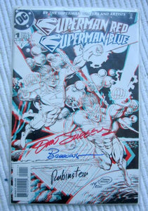 1998 DC Comics 3D Superman Red Superman Blue Signed Limited Edition