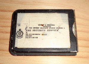 Vintage Badge For The British Security Service
