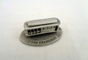 1987 Spoontiques 9850 Pewter Miniature San Francisco Trolley Car