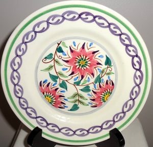 Six 16.2cm Side Plates 1950s Old Bristol Delft Pattern 1684