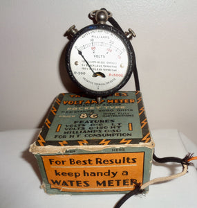 Vintage Wates 3 in 1 Pocket Volt Amp meter With A Resistance Of 5000 Ohms