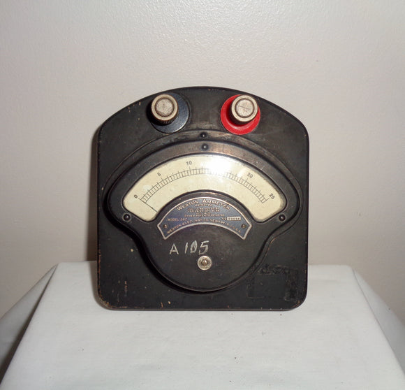 Antique Weston Electrical Instruments Ammeter Model 280 Serial Number 23058