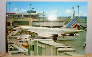 Vintage Concorde Postcard Featuring Concorde at Frankfurt Main Airport by Michel & co