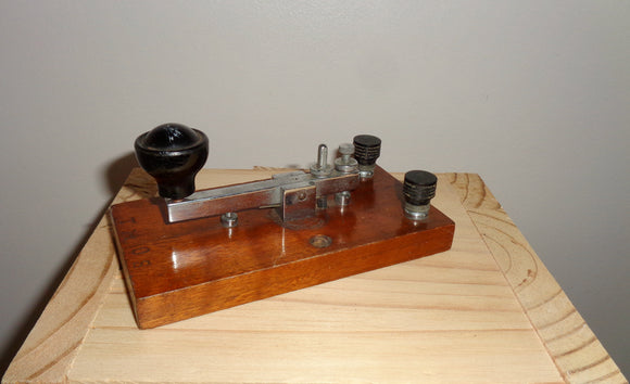 1920s British Straight Sending Morse Key Possibly Made By Gamages