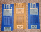 Set Of Three Vintage Connollys Winding Wire Reeling Data Selection Guides