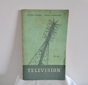 Original 1937 Television Booklet Produced For A Science Museum Exhibition