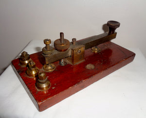 1920s British Straight Sending Morse Key Possibly Made By Walters