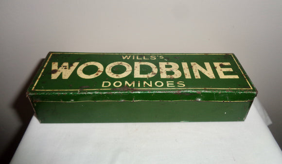 Set of 28 Wills's Woodbine Dominoes Empire Size In Tin Box