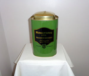 Ringtons Ltd Green Tin Tea Coffee Caddy