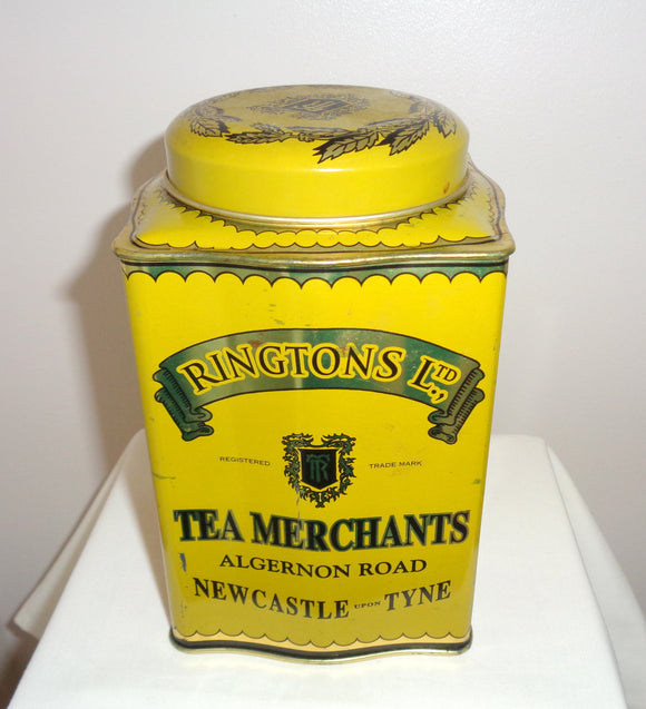 Ringtons Ltd Yellow Millennium Tin Tea Coffee Caddy