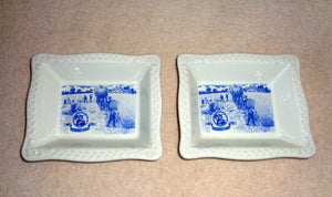 Pair Of Shredded Wheat Bowls Commemorating The Cereal's Centenary