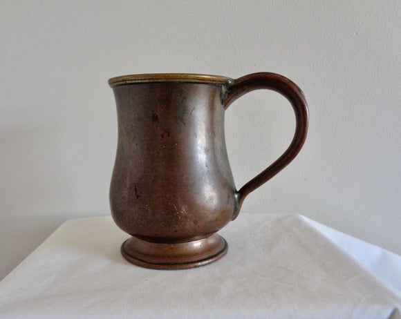 1851 Victorian Copper Drinks Half Pint Tankard