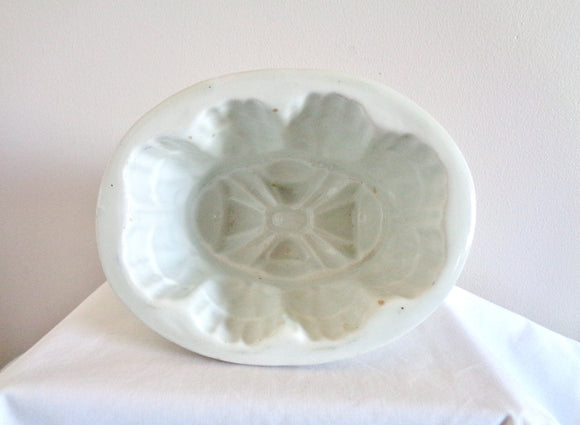 1 Pint Victorian Ceramic Jelly/Aspic/Blancmange Mould