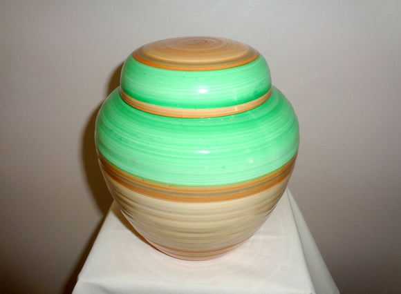 1930s Shelley Art Deco Banded Ginger Jar