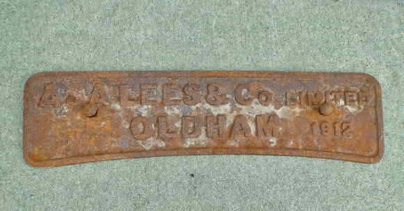 1912 Metal Sign For Asa Lees And Co Textile Machine