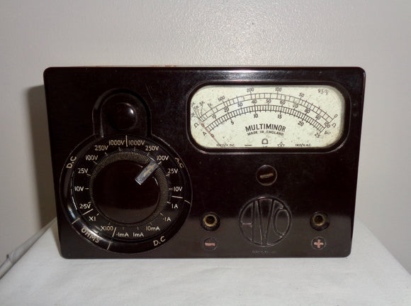 1950s Bakelite Fronted ACWEECO AVO MultiMinor MK1 Multimeter