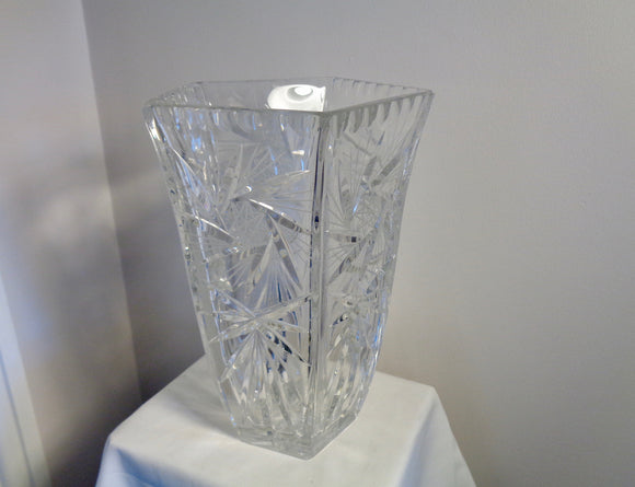 Vintage Lead Crystal Cut Glass Vase