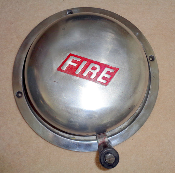 1960s BMC Hand Cranked Polished Chrome Fire Alarm Bell