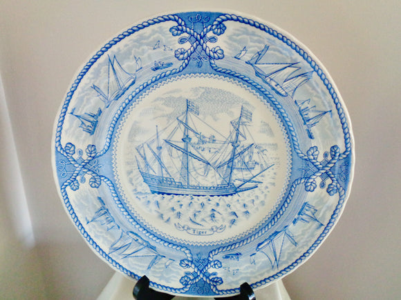 Vintage Mason's Ironstone 'Tiger' Ship Nautical Collector's Plate