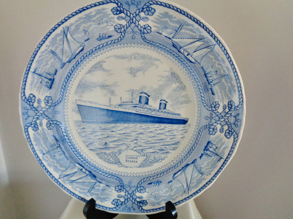 Vintage Mason's Ironstone 'United States' Ship Nautical Collector's Plate