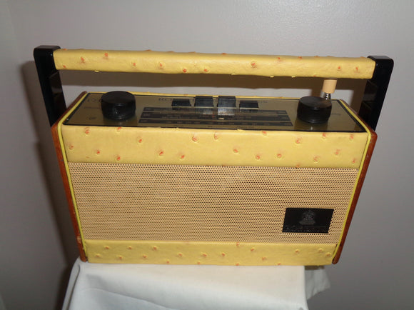 Vintage R757 Roberts Radio Recovered with Yellow Leather