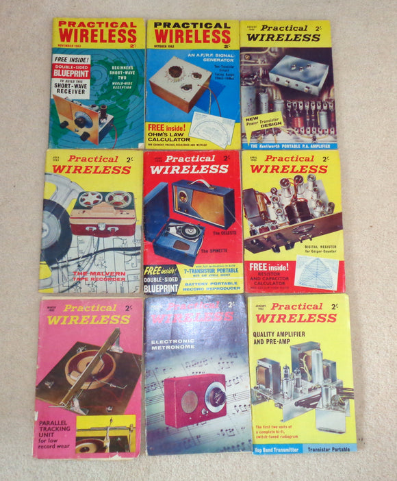 1963 Practical Wireless Magazines
