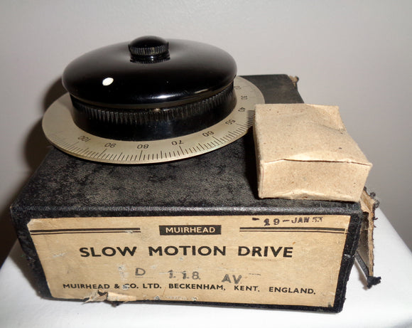 1952 Muirhead Slow Motion Drive Model D 118 AV In Its Original Box